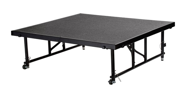 NPS Black Grey 32 Inch Adjustable Height Transfix Platform Stage NPS-TFXS48482432C-02