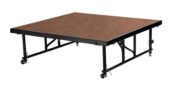 NPS Black Hardboard Floor 32 Inch Adjustable Height Transfix Platform Stage NPS-TFXS48482432HB