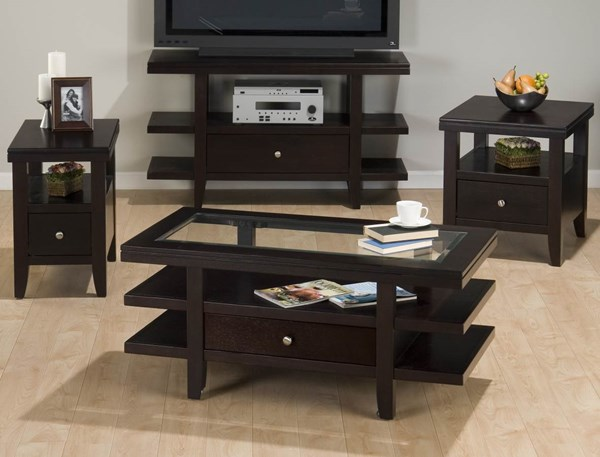 Marlon Contemporary Wenge 4pc Coffee Table Set JFN-091-set2