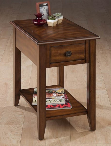 Medium Casual Brown Wood Chairside Table JFN-1031-7