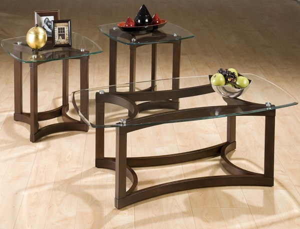 Bellingham Casual Brown Wood Cocktail / End Table Base JFN-107G