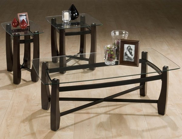 Jofran Tania Espresso 3pc Pack Occasional Table Set JFN-186