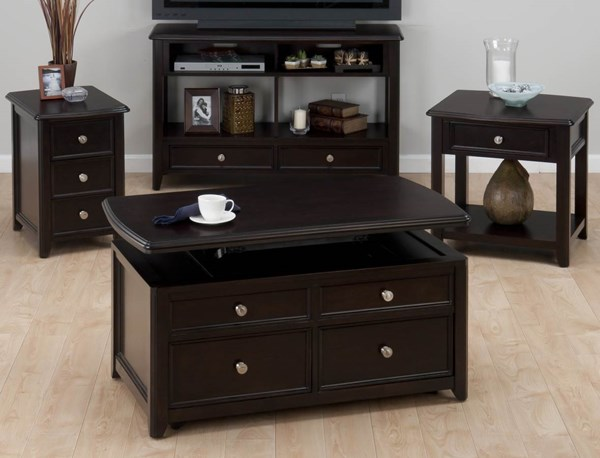 Corranado Casual Espresso Wood Coffee Table Set JFN-319