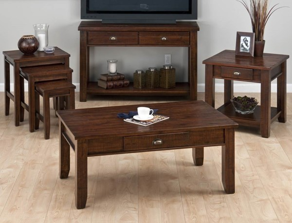 Jofran Urban Lodge Brown Coffee Table Set JFN-731