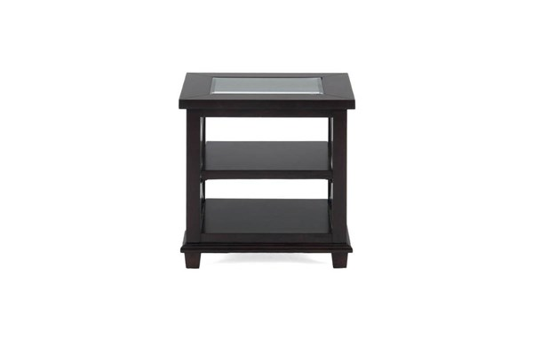 Panama Contemporary Brown End Table w/2 Shelves JFN-966-3