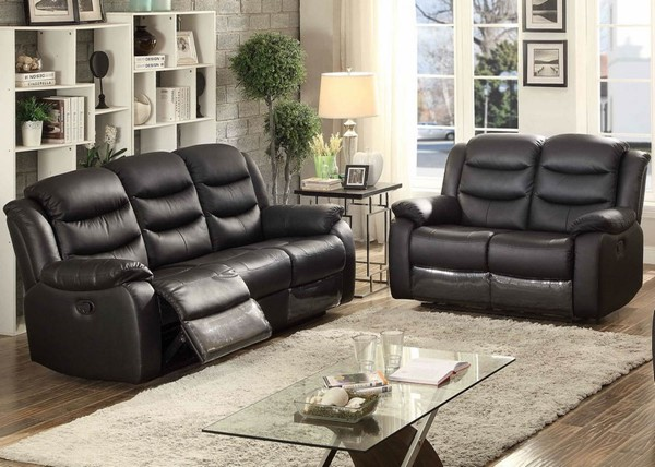 Home Roots Brown Glider Reclining 2pc Living Room Set OCN-247969