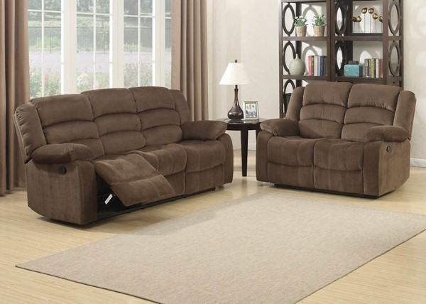 Home Roots Bill Brown Reclining 2pc Living Room Set OCN-247974