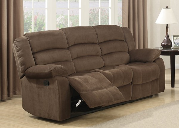 Home Roots Brown Living Room Reclining Sofa OCN-247975