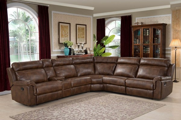Home Roots Brown Reclining 6pc Sectional OCN-247980