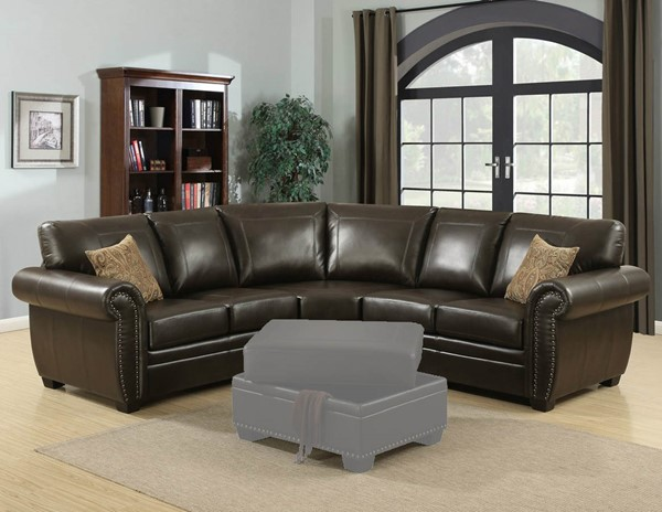 HomeRoots Traditional Brown 3pc Sectional OCN-248011