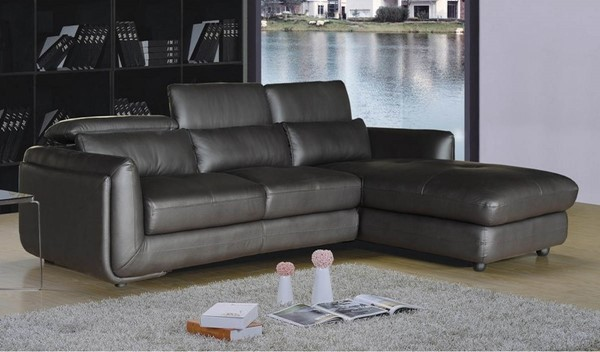 Homeroots Brown Leather 2pc Sectional OCN-248023