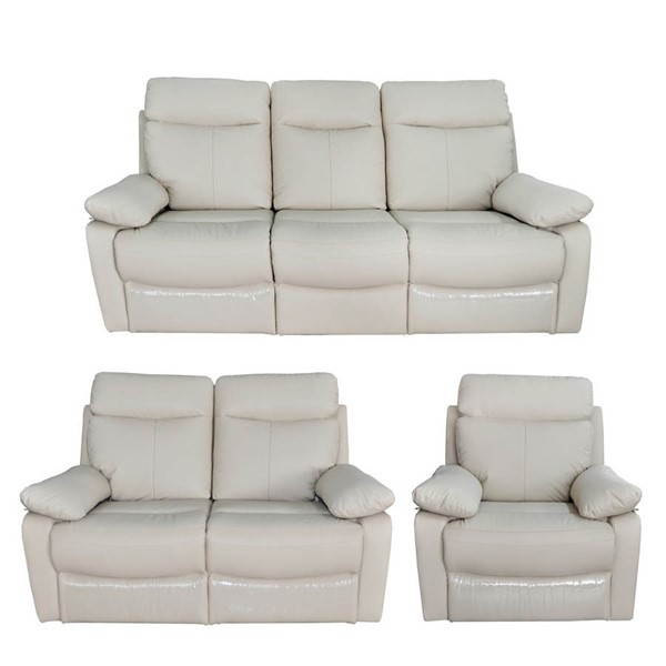 HomeRoots Taupe Reclining 3pc Living Room Set OCN-248030