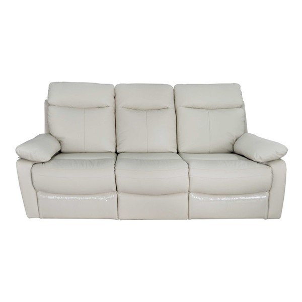 Ocean Tailer White Reclining Genuine Leather Sofa OCN-248031