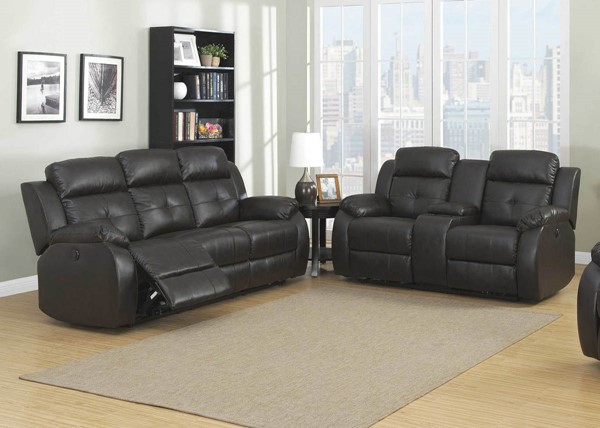 HomeRoots Power Reclining 2pc Living Room Set - 248044 OCN-248044