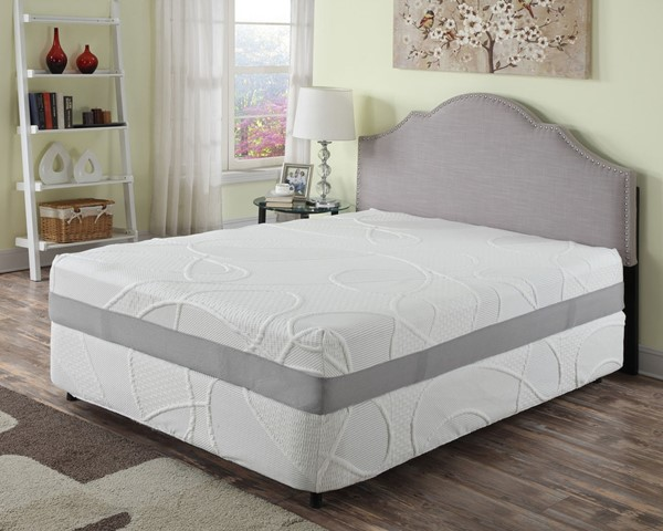 HomeRoots 12 Inch Green Tea And Bamboo Charcoal Infused Memory Foam Queen Mattress OCN-248107
