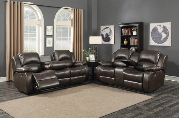 Home Roots Reclining 2pc Living Room Set with Storage Console OCN-248486