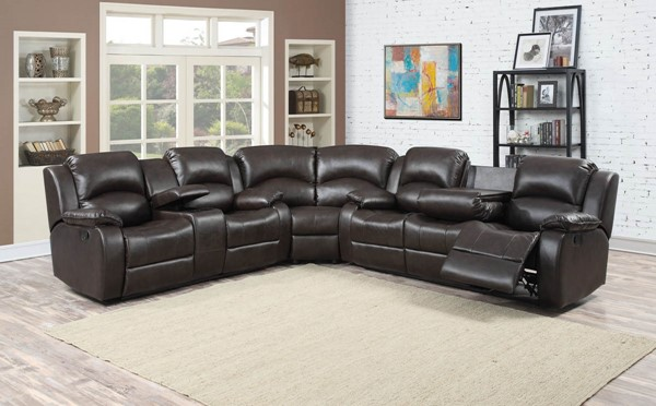 HomeRoots Bustle Back 3pc Sectional with Storage Console OCN-248487