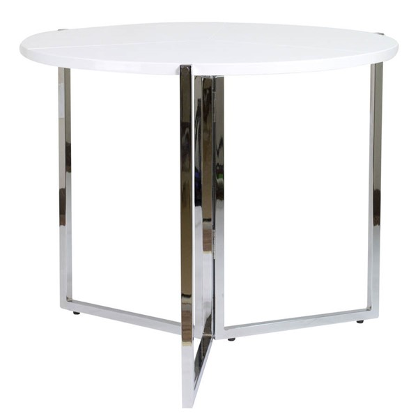 Home Roots White Circular Folding Table OCN-248530
