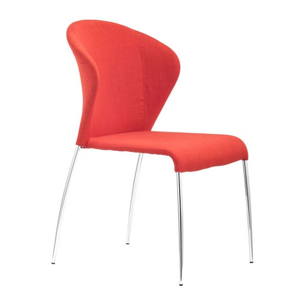 4 HomeRoots Oulu Tangerine Dining Chairs OCN-248645