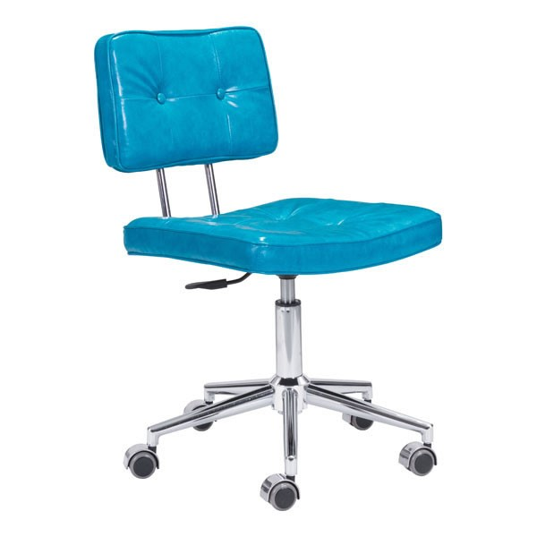 Home Roots Retro Blue Faux Leather Office Chair OCN-248735