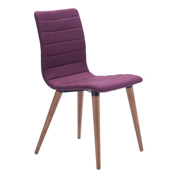 2 HomeRoots Jericho Purple Solid Wood Dining Chairs OCN-248756