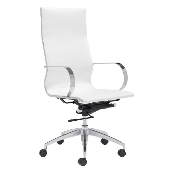 Home Roots White Faux Leather High Back Office Chair OCN-248823