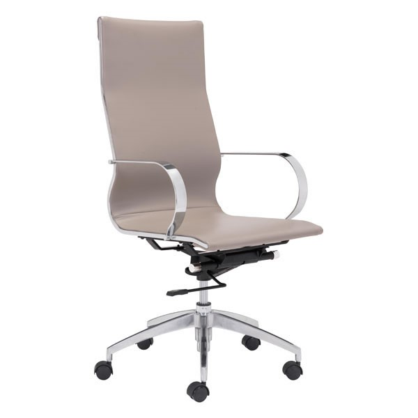 Home Roots Taupe Faux Leather High Back Office Chair OCN-248824