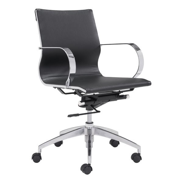 HomeRoots Faux Leather Low Back Office Chairs OCN-24882-OCH-VAR2