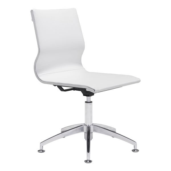 Home Roots White Faux Leather Conference Chair OCN-248829
