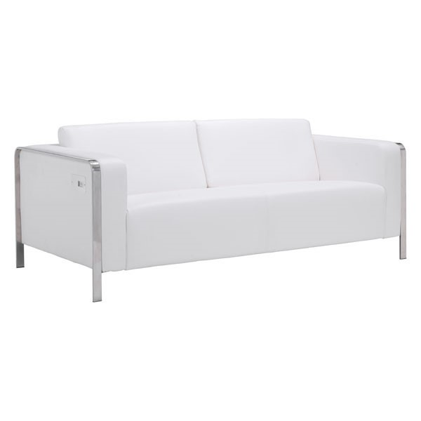 Ocean Tailer Thor White Faux Leather Sofa OCN-248834