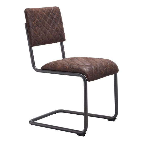 2 HomeRoots Father Faux Leather Dining Chairs OCN-24883-DR-CH-VAR