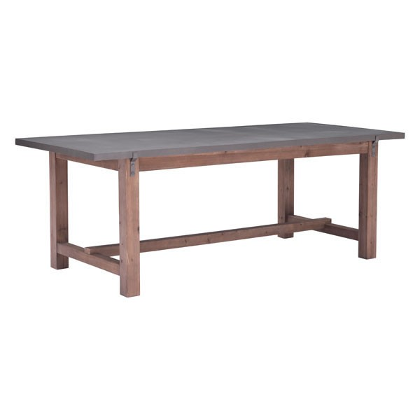 Home Roots Greenpoint Gray Dining Table OCN-248868