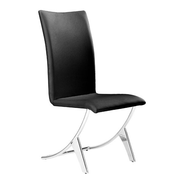 2 HomeRoots Delfin Faux Leather Dining Chairs OCN-24888-DR-CH-VAR