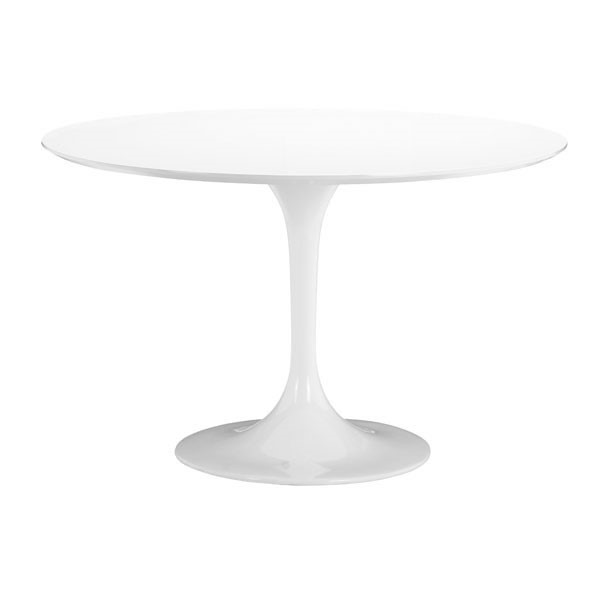 Homeroots White MDF Dining Table OCN-248894