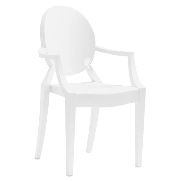 4 HomeRoots White Polycarbonate Chairs OCN-248907