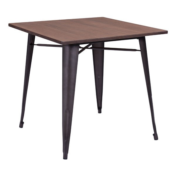 HomeRoots Rusty Wood Square Dining Table OCN-248929