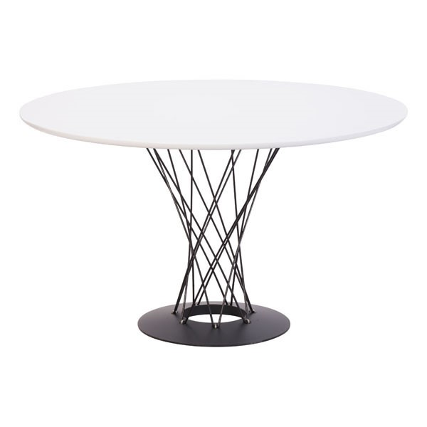 Homeroots White MDF Spiral Dining Table OCN-248936