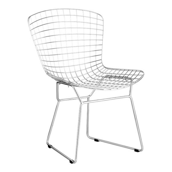 2 HomeRoots Chrome Wire Dining Chairs OCN-248940