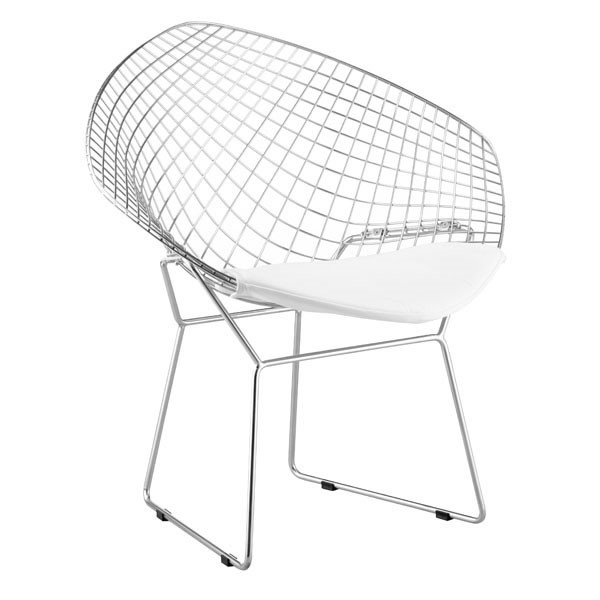 2 HomeRoots Net White Faux Leather Dining Chairs OCN-248951