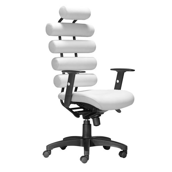 Home Roots Unico White Faux Leather Office Chair OCN-248963