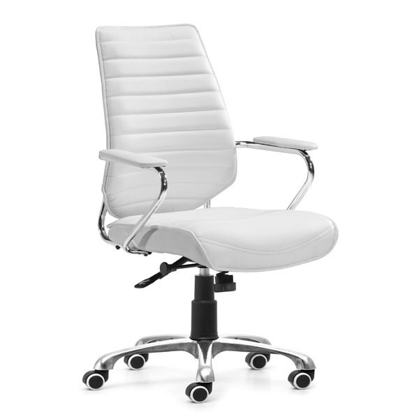 Home Roots White Low Back Office Chair OCN-248965