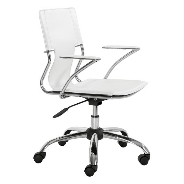 Home Roots White Solid Back Office Chair OCN-248969