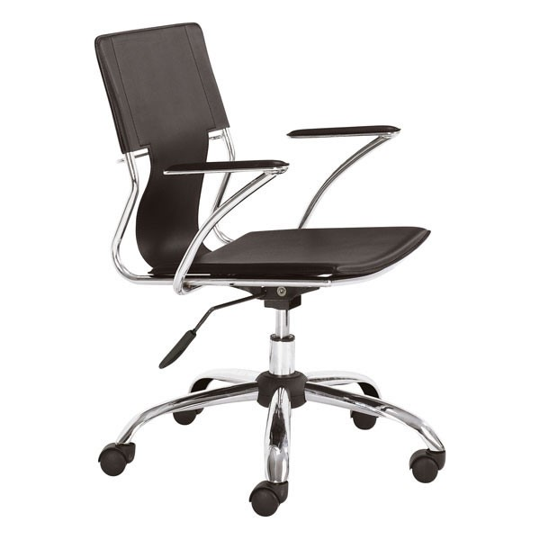 Home Roots Espresso Solid Back Office Chair OCN-248970