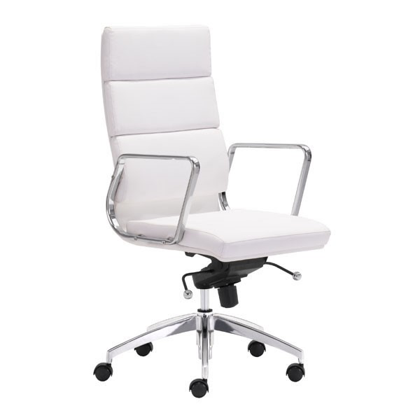 HomeRoots Engineer White High Back Office Chair OCN-248988