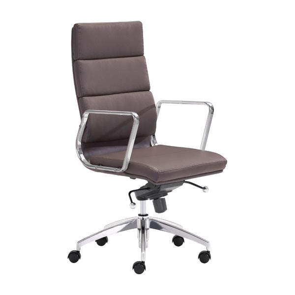 Home Roots Engineer Espresso High Back Office Chair OCN-248989