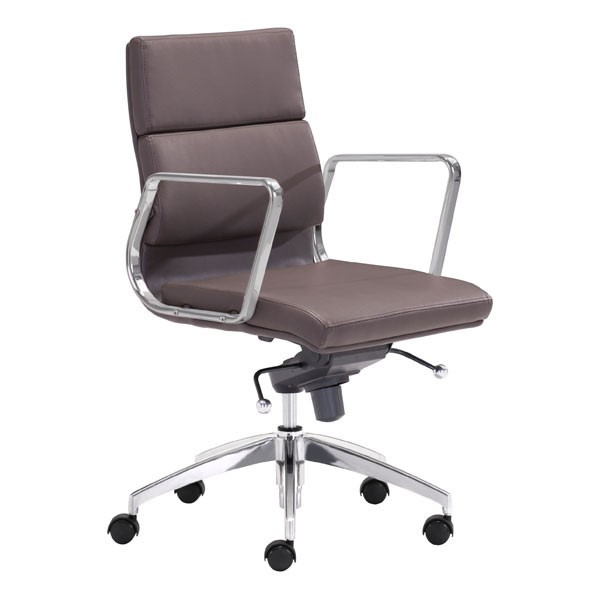 HomeRoots Engineer Espresso Low Back Office Chair OCN-248992