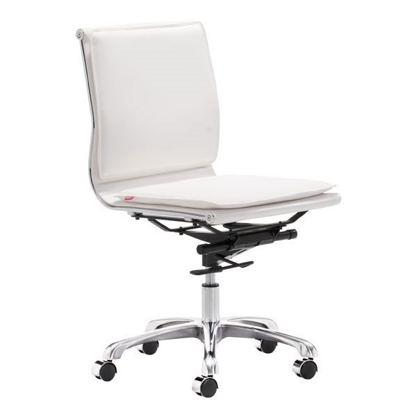 Home Roots White Armless Office Chair OCN-249000