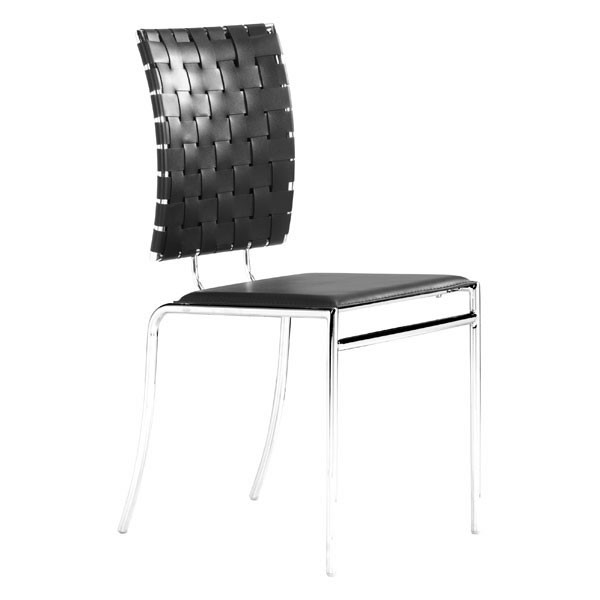 4 HomeRoots Black Faux Leather Dining Chairs OCN-249059