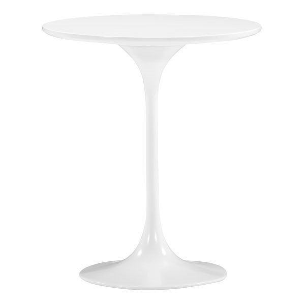 Homeroots Wilco White MDF Side Table OCN-249069