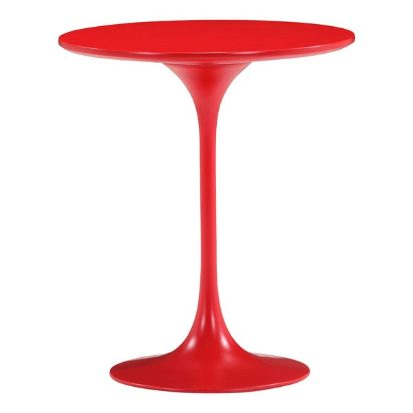 Homeroots Wilco Red MDF Side Table OCN-249070